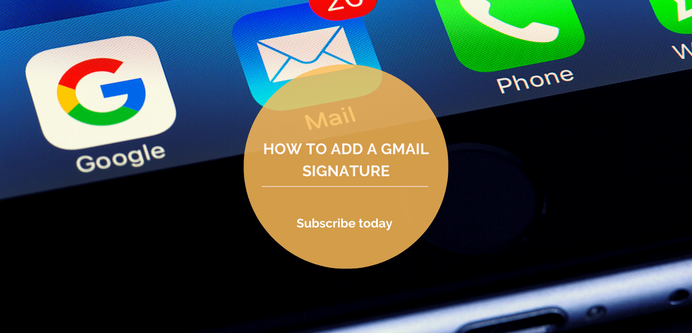How to add a Gmail signature