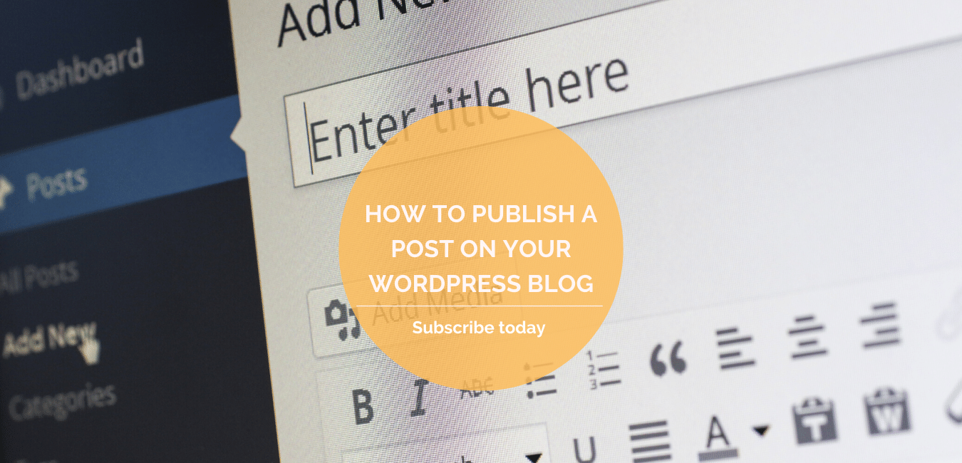 How to publish a post on your WordPress blog