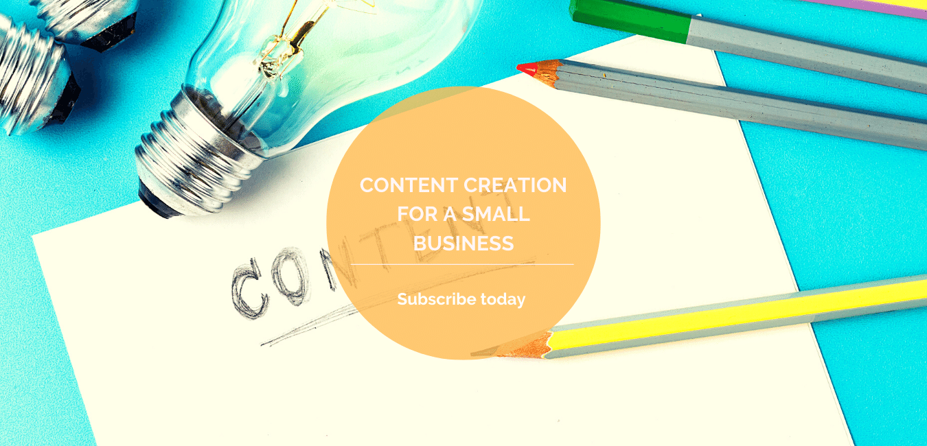 Content creation for a small business